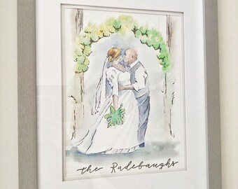 KANDJCREATES Custom Wedding Couple Art || Wedding Couple Illustration