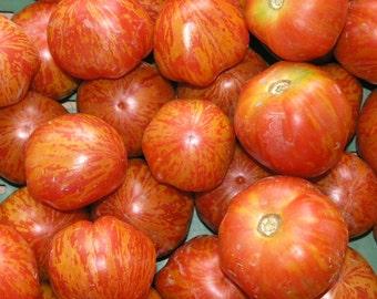 Red Zebra Tomato Heirloom Garden Seed Non-GMO 30+ Seeds Naturally Grown Open Pollinated Gardening