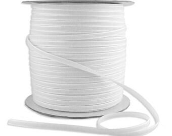 12 Yards Tiny Velvet Ribbon Trim White 1/8 Inch Wide