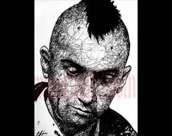 "Print 8x10"" - Travis Bickle - Taxi Driver Robert De Niro New York City 70s Punk Indie Hipster Mohawk Blood Portrait Guns Insomnia Pop Art"