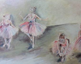 The Ballet Lesson, ORIGINAL painting