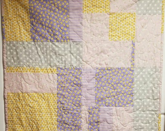 Ducks and Polka Dots Baby Quilt                    *** FREE SHIPPING ***