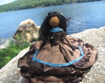 Pocahontas ~ Bendy Doll ~ Native American~ Designer Waldorf Flower Doll ~ Rose Princess