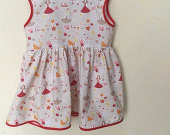 "Little ""Princess"" dress Sleeveless T 3 years various size options"