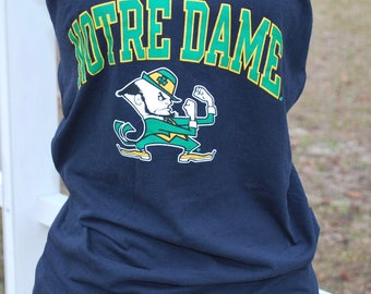Notre Dame Fighting Irish Upcycled Womens Strapless Top Shirt XS, S, M, L, XL Please read description