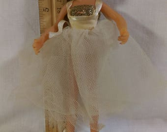 """7"""" Formal Ballerina by the Flagg Doll Company."""
