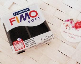 1 panetto FIMO SOFT color NERO n 9 (57 gr)