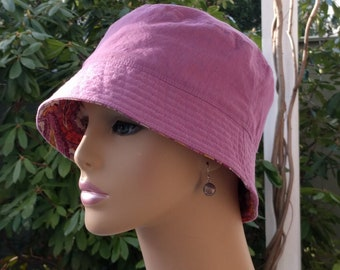 Chemo Hat Bucket Hat Cancer Hat Made in the USA SMALL-MEDIUM
