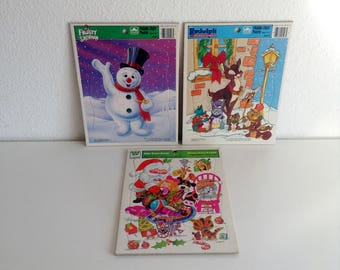 3 Vintage, Frame-Tray Puzzles