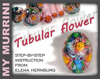 ASSEMBLED TUBULAR FLOWER. Tutorial for lampworkers.