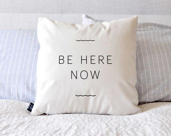 Be Here Now - Velveteen Throw Pillow Cover