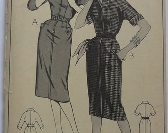 Vintage sewing pattern. Style 1177, dress pattern bust 34""