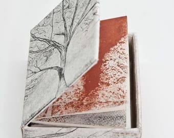 "Artists' book ""Trees in a Box"""