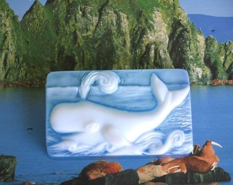 Soap. Whale with fragrance of Beach Daisies.