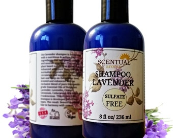 On Sale Sulfate Free Shampoo with Essential Oil Blend, Lavender Shampoo, Healthy Hair Shampoo, Natural Shampoo