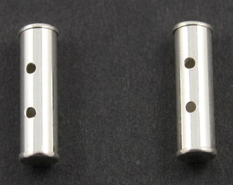 Sterling Silver Tube Spacer with 2 Holes,1 Piece, Sold INDIVIDUALLY, Just buy as many you need,(SS/1260/2)