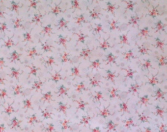 Delicate Pink Floral Print, 1 yard
