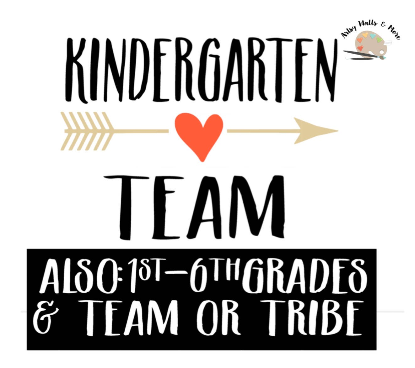 Kindergarten team svg Kindergarten tribe svg First grade 2nd