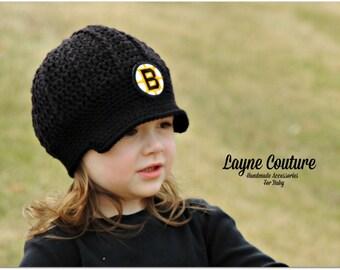 The Original- Boston Bruins Inspired Newsboy Hat / Layne Couture / Newborn to Adult