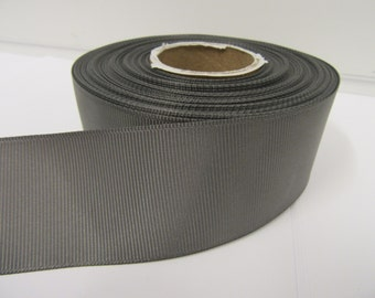 Grosgrain Ribbon 3mm, 6mm 10mm 16mm 22mm 38mm 50mm Rolls, Gunmetal Grey / Dark Silver, 2, 10, 20 or 50 metres, Ribbed Double sided,