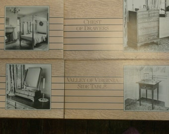 Carlyle Lynch Classic Furniture Projects-Pencil Post Bed, Valley of Virginia Side Table, Dressing Glass, Chest of Drawers lot of 4
