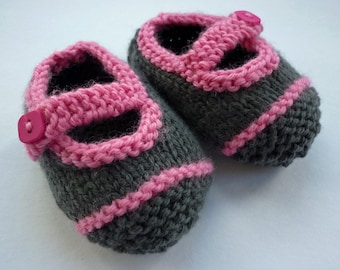 Baby Booties Knitting Pattern, Baby Shoes Pattern , Easy Knit Pattern,  Booties PDF Pattern, Baby Shoes Knit Pattern -  AVERY