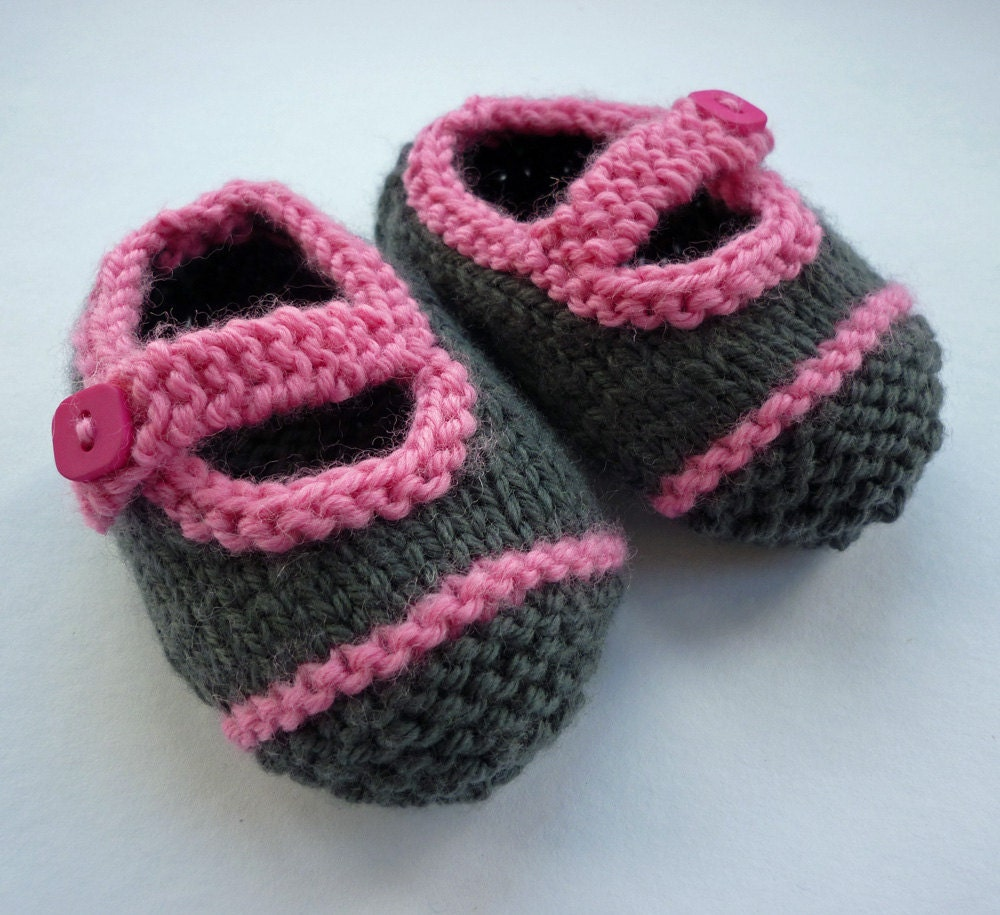 Baby Booties Knitting Pattern, Baby Shoes Pattern , Easy Knit ...