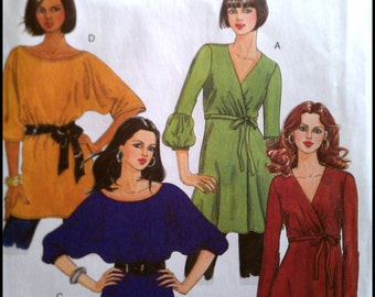 Butterick B5248  Misses' Tunic and Belt  Size (Xsm-Sml-Med)  UNCUT