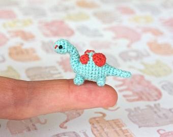 Dino the Dinosaur / Crochet / Amigurumi / Plushie / Miniature