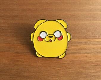 """Enamel Pin, Jake the Dog, 1"""" inch, Lapel Pin, Kawaii, Adventure Time, Tokidoki, Ghibli"""