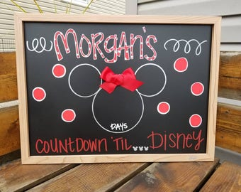 Disney countdown chalkboards