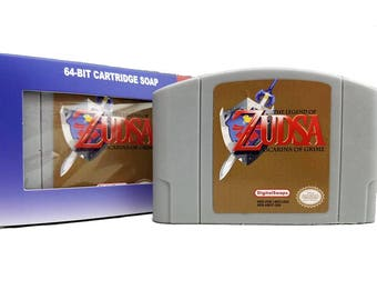 Nintendo N64 Soap Cartridge, Zelda Ocarina of Time, N64, Nintendo 64, zelda gift, Ocarina, Legend of Zelda, BOTW, Link, triforce, zelda gift