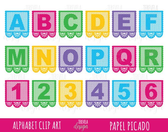 50 Sale Papel Picado Clipart Alphabet Clip Art Cinco De