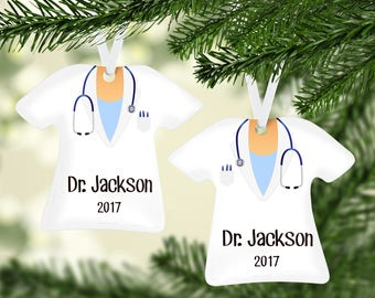 Lab Coat Blue Ornament