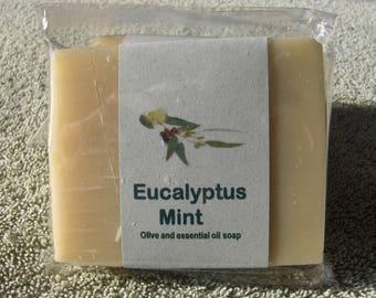 EUCALYPTUS/MINT Bountiful Handmade Soap  4oz ea bar Shea/essential oils/Olive