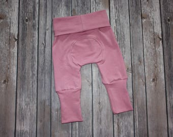 Miniloones,Grow With Me,Antique Rose Baby Pants, Cloth Diaper Pants,Baby Leggings,Baby Maxaloon,Toddler Pant,Adjustable Pants,Evolution Pant