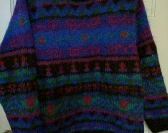 Modern Mohair sweater Talbot's medium 1980s  oversize wool jumper pullover women unisex men