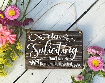 No Soliciting Sign, No Soliciting Door Sign, Do Not Disturb Sign, No Solicitation Sign, No Soliciting, No Strangers Sign, Do Not Disturb