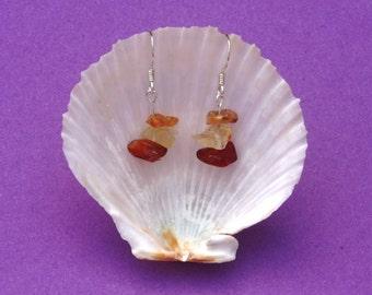 Carnelian gemstone earrings Sterling silver earrings, Orange earrings, Sacral Chakra earrings, hypoallergenic earrings, Cancer Taurus zodiac