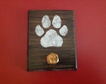 Wood Dog Paw Leash Holder