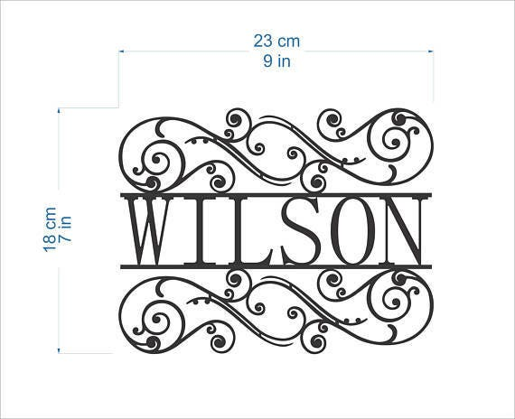 Personalized Family Last Name Sign for Outdoor Use Custom