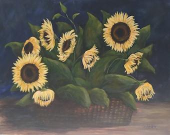 Sunflowers #7 Original Acrylic hand painted wall art