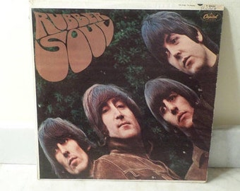Vintage 1965 LP Record The Beatles Rubber Soul Very Good Condition Mono Version 14778