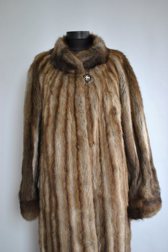 rich fur Vintage women's MINK luxurious full fur coat length 214 coat fur COAT FUR glamorous qdv8wUqZ