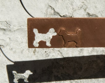 Customized Pet Necklace With Your Dogs Silhouette - aka The Pedro Necklace