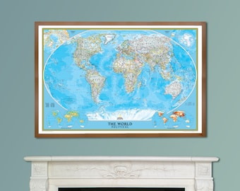 National geographic world executive map framed home decor national geographic classic world map explorer framed home decor gift bedroom gumiabroncs Image collections