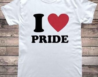 I Love Pride Gay Pride T-Shirt