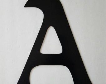 Letter A Metal Home Decor. Painted Black. Home, Office Decor.  Wedding Decor. Housewarming or Birthday Gift!  Ready to Ship!