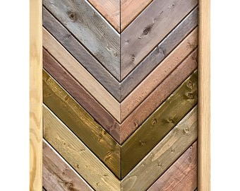 Chevron-Style Reclaimed Wood Wall Hanging