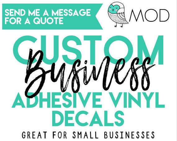 Custom business logo custom decals company logo decals